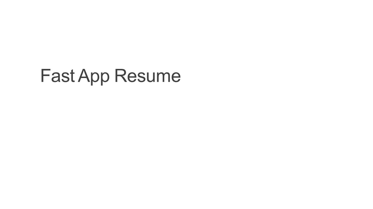 Fast App Resume Build 2014 4/14/2017