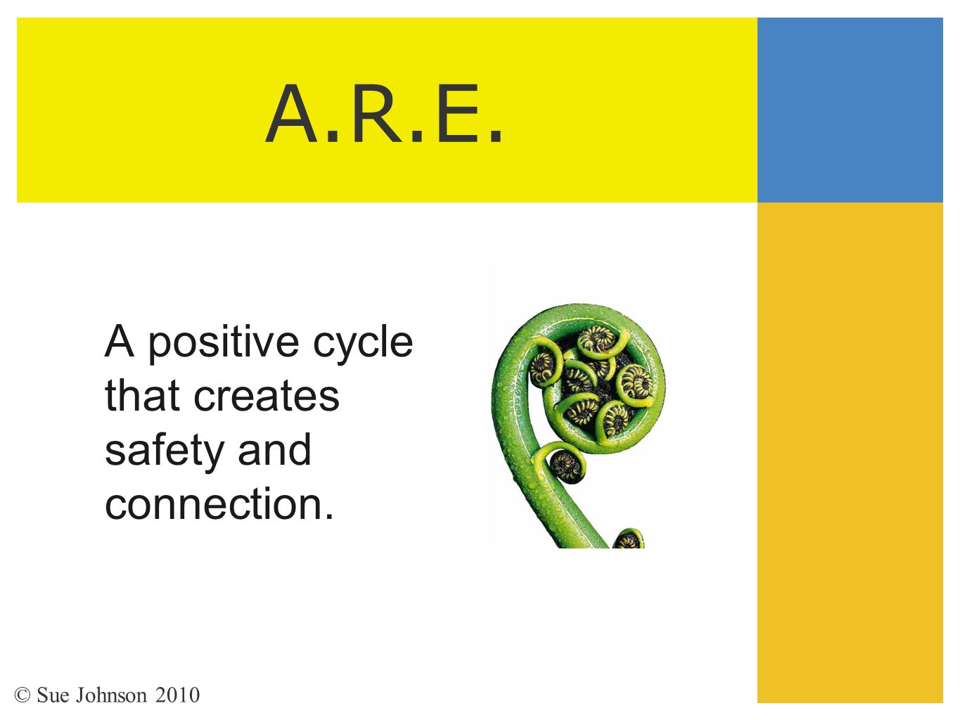 A.R.E. A positive cycle that creates safety and connection.