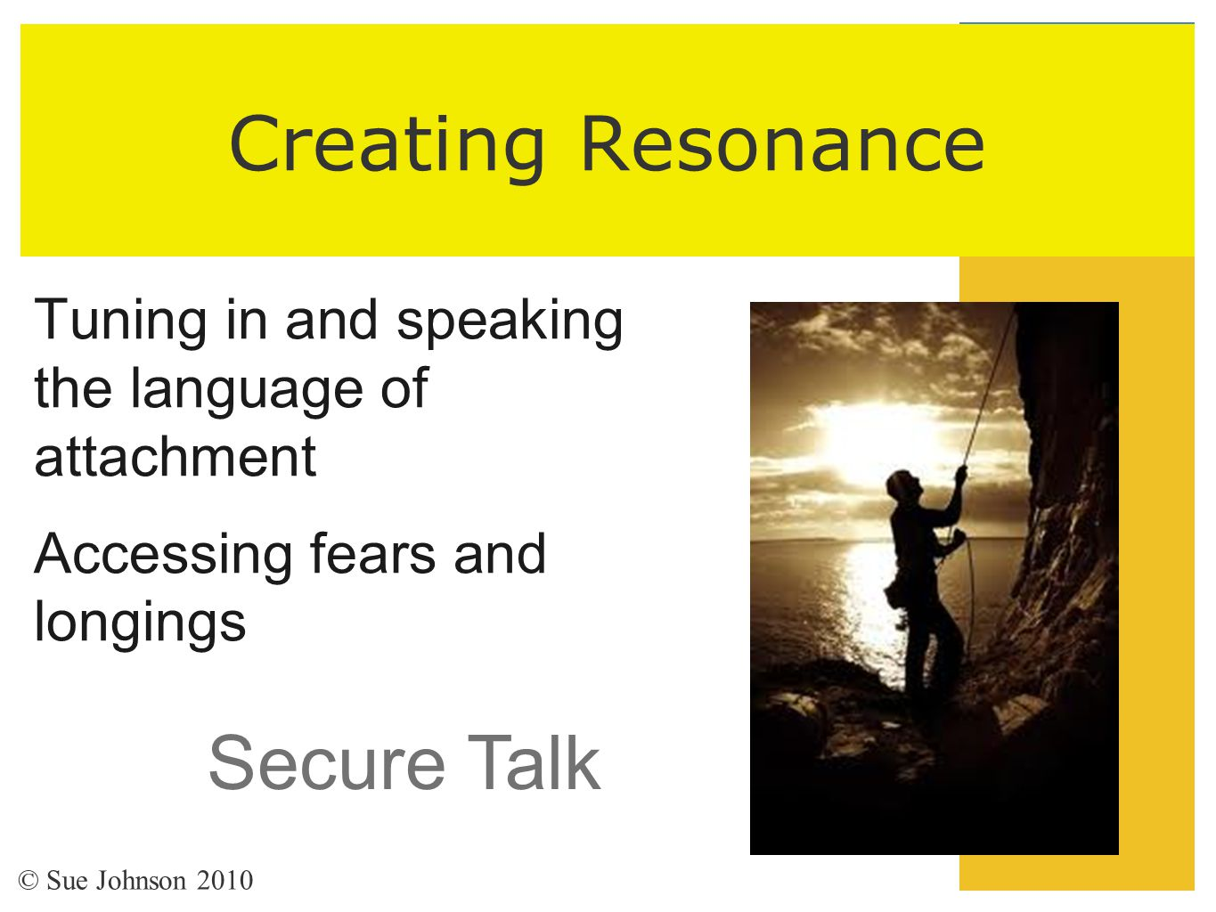 Creating Resonance Secure Talk