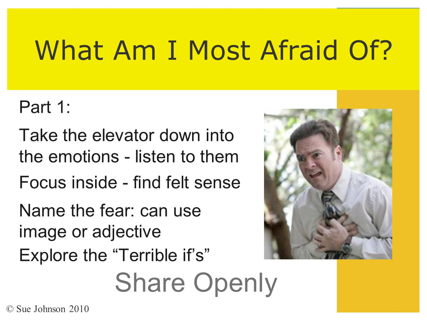 What Am I Most Afraid Of Share Openly Part 1:
