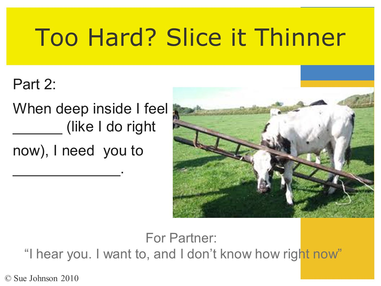 Too Hard Slice it Thinner