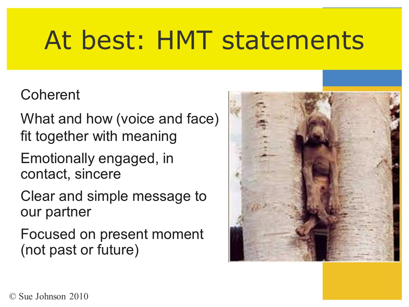 At best: HMT statements