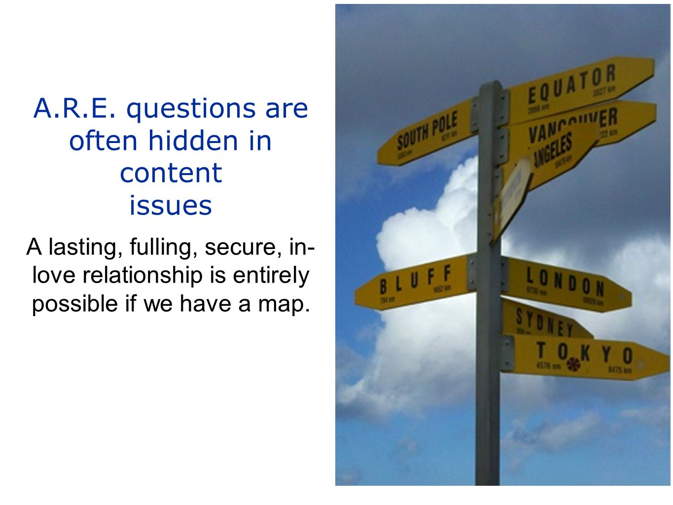 A.R.E. questions are often hidden in content issues