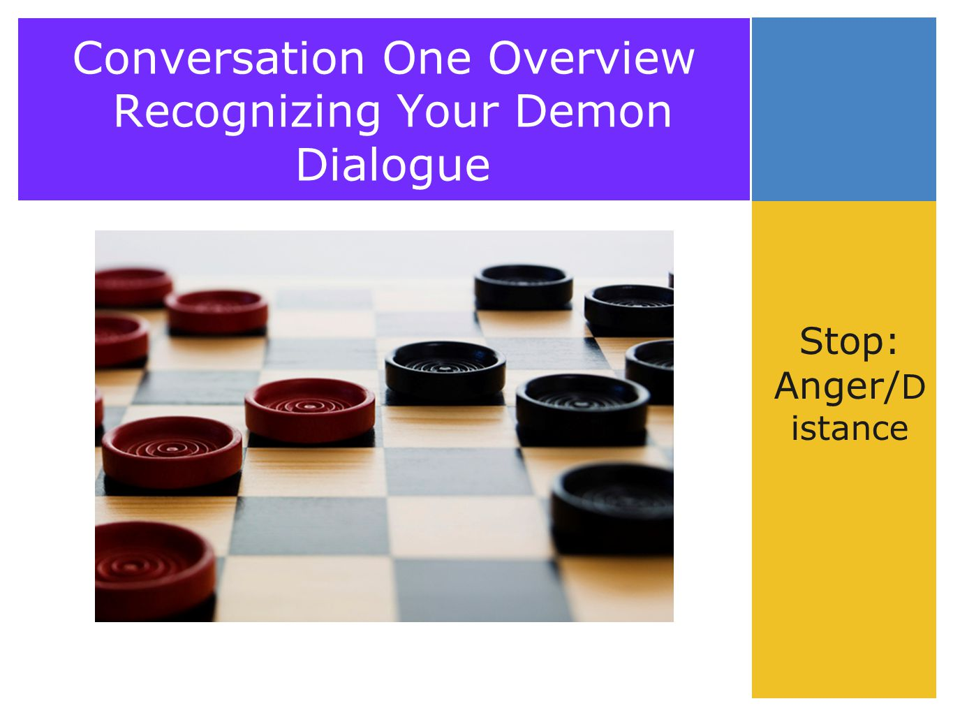 Conversation One Overview Recognizing Your Demon Dialogue