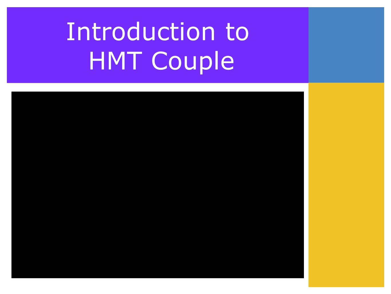 Introduction to HMT Couple