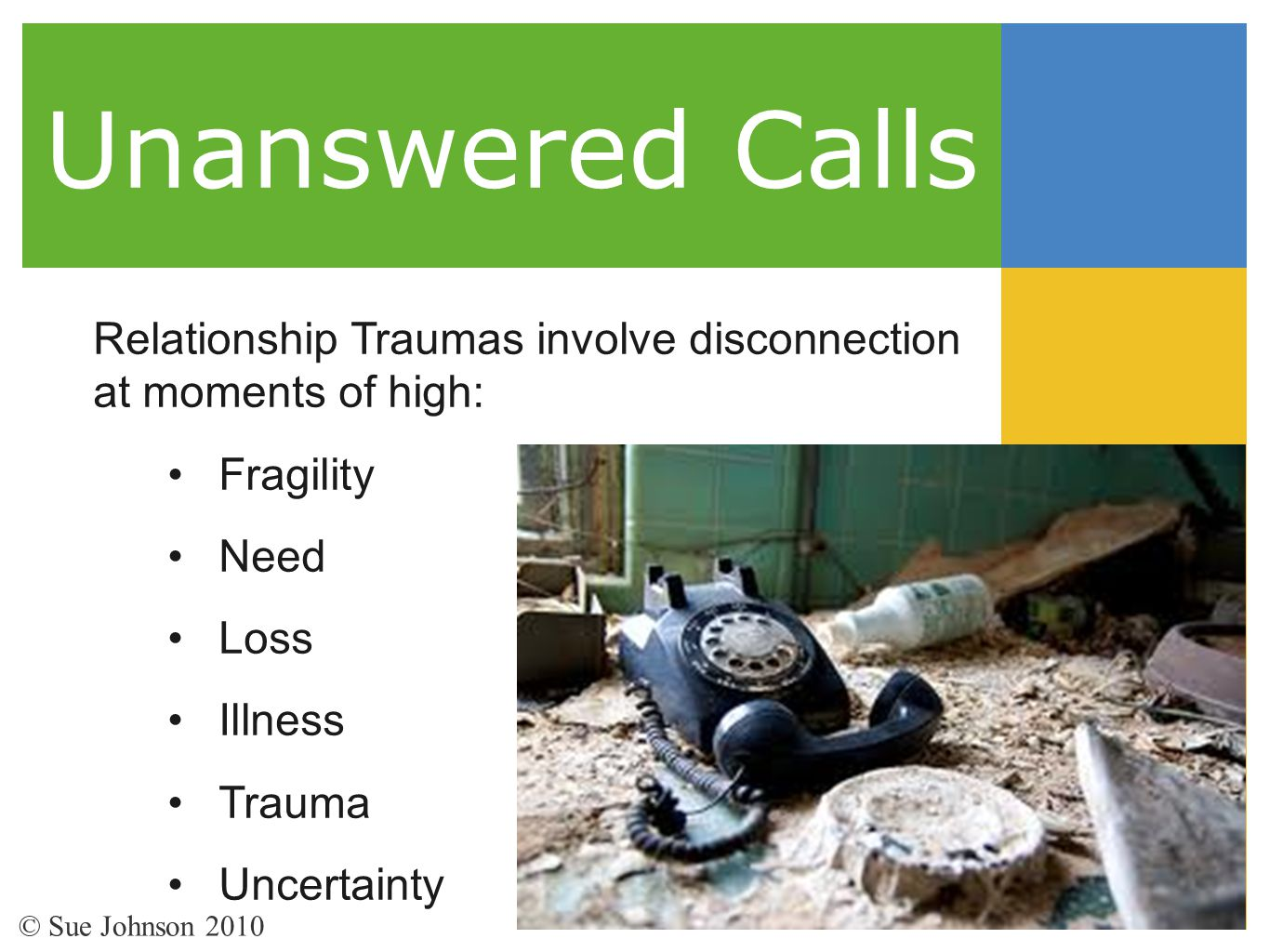 Unanswered Calls Relationship Traumas involve disconnection
