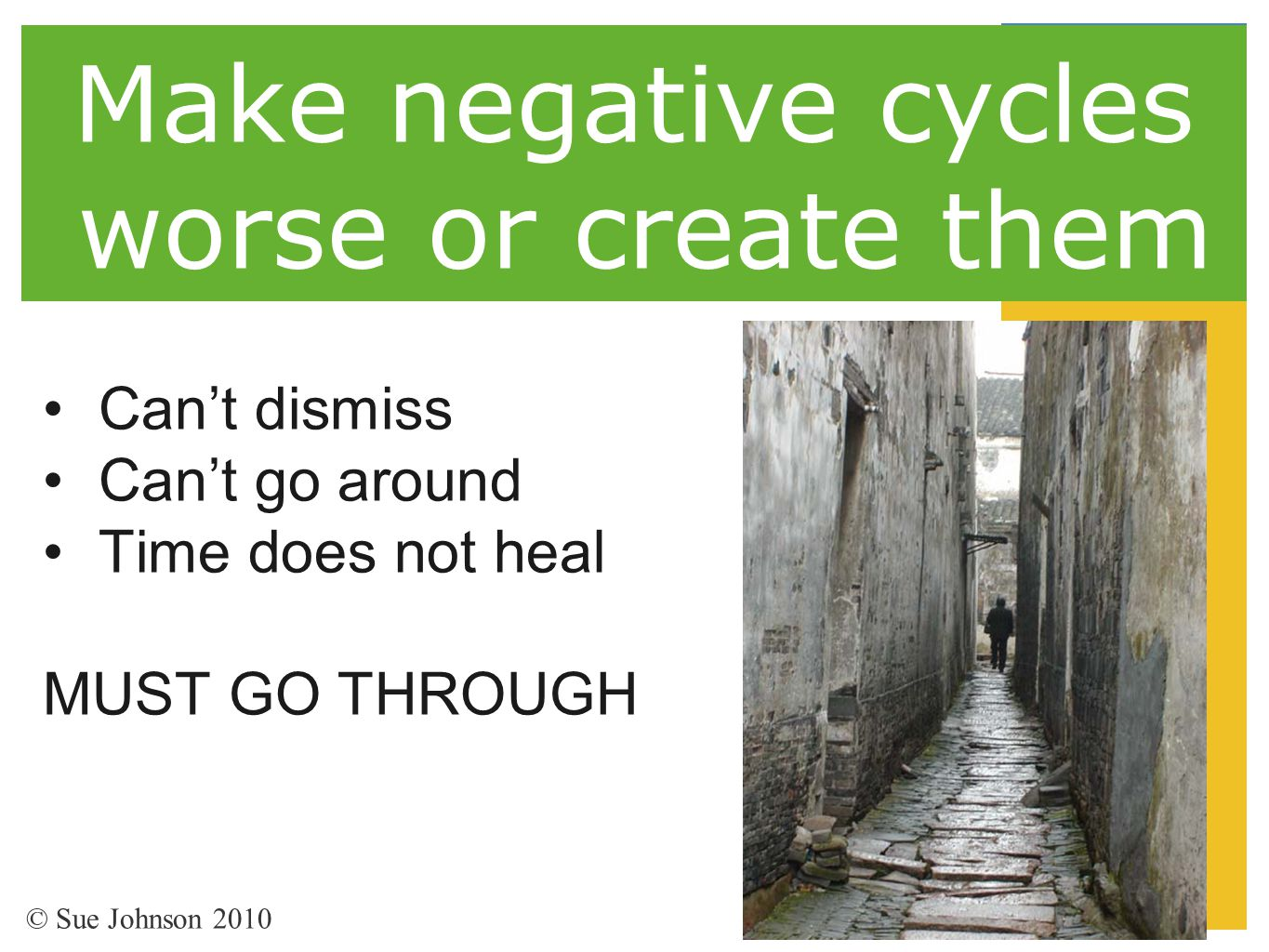 Make negative cycles worse or create them