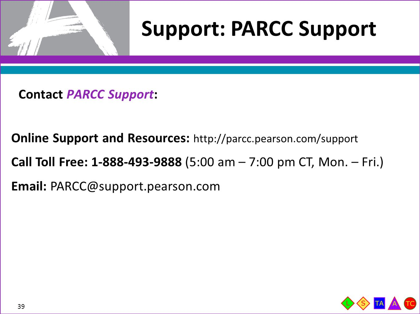 Support: PARCC Support