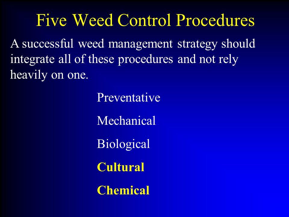 Five Weed Control Procedures