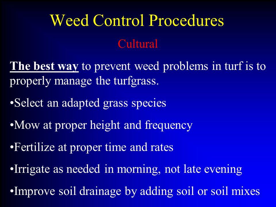 Weed Control Procedures
