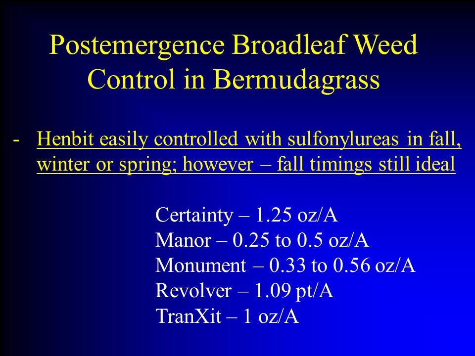 Postemergence Broadleaf Weed Control in Bermudagrass