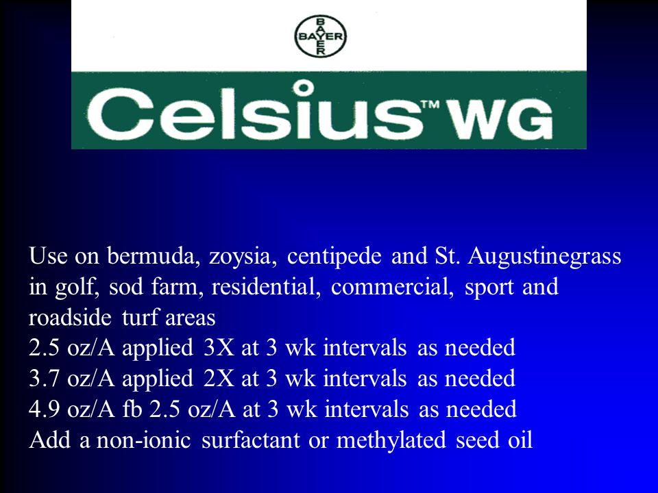 Use on bermuda, zoysia, centipede and St