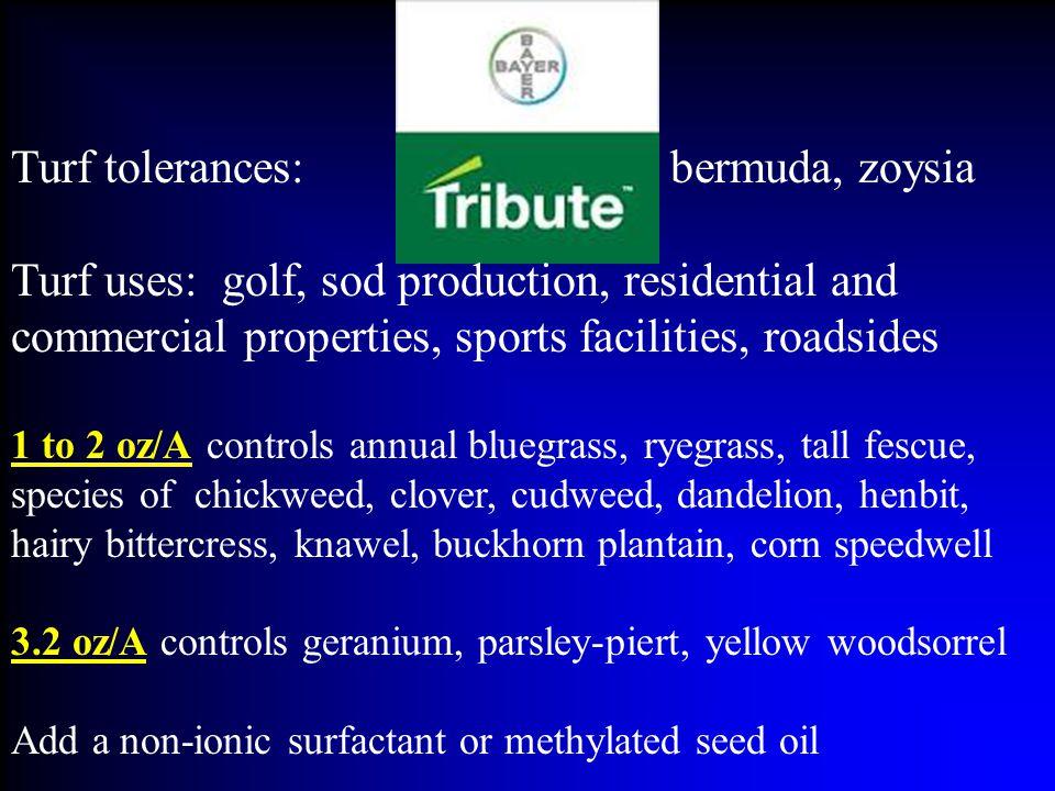Turf tolerances: bermuda, zoysia