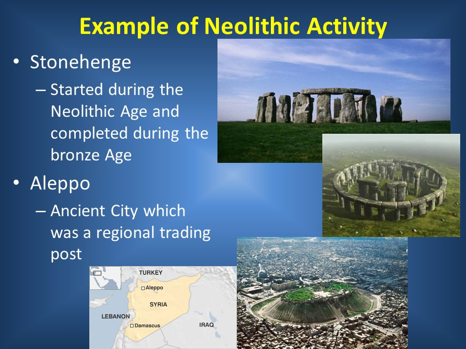 Example of Neolithic Activity