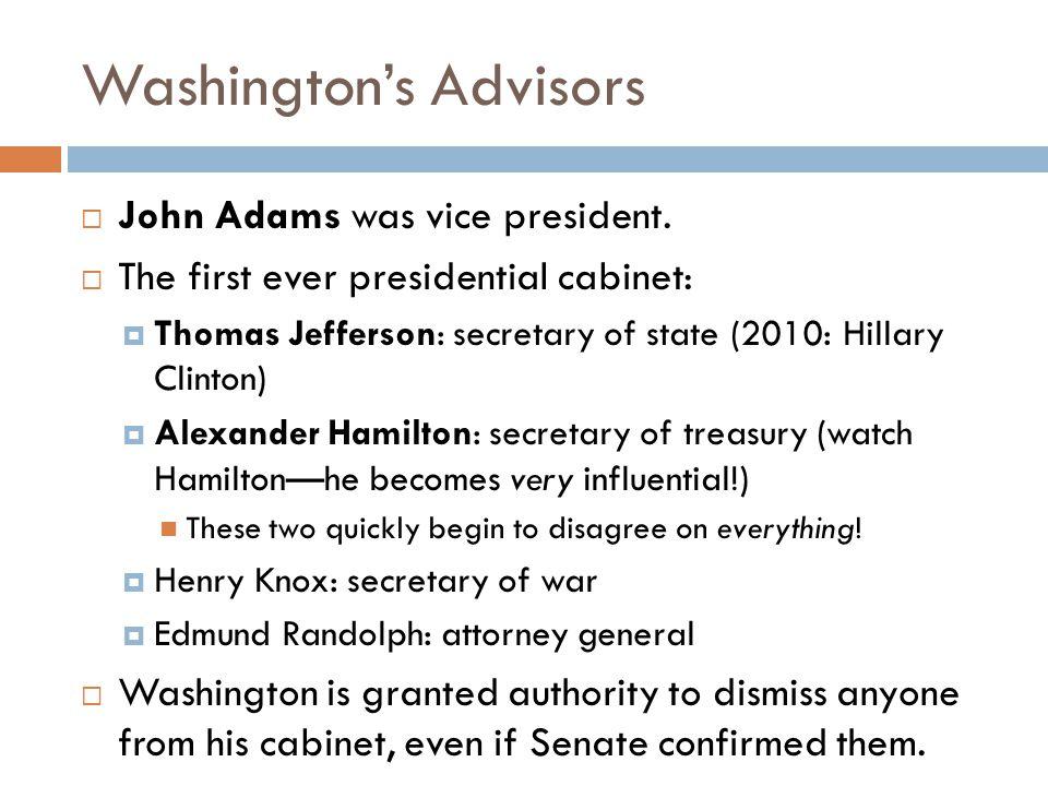 Washington's Advisors