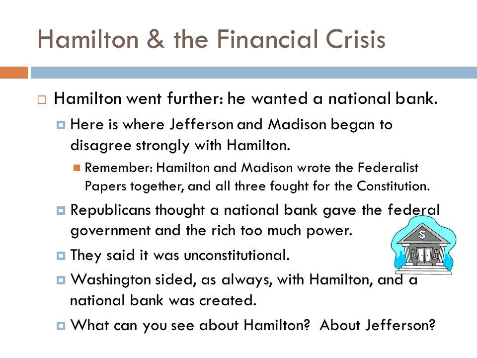 Hamilton & the Financial Crisis