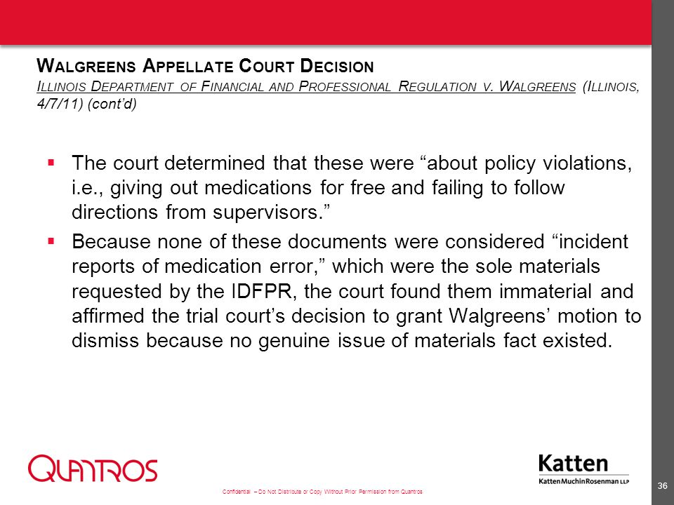Recent PSO Trial Court Decisions Horvath v