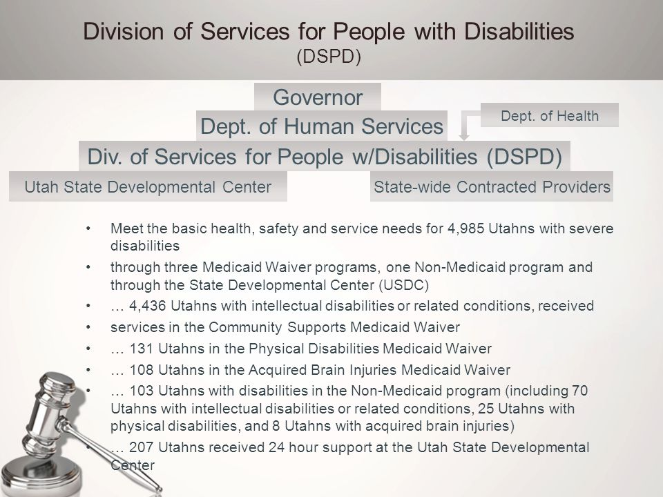 Division of Services for People with Disabilities (DSPD)