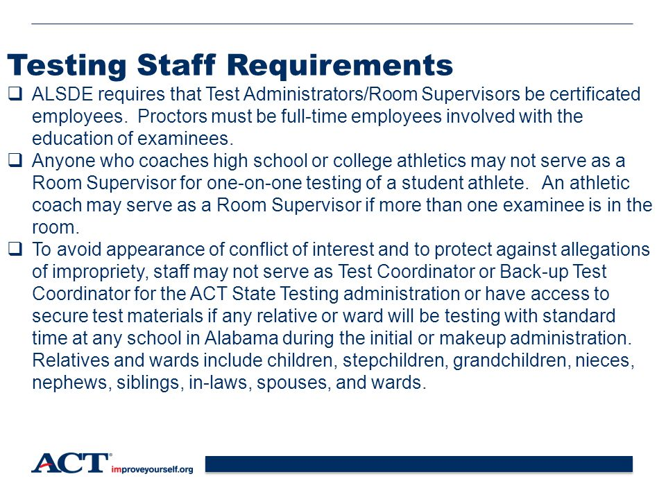 Testing Staff Requirements