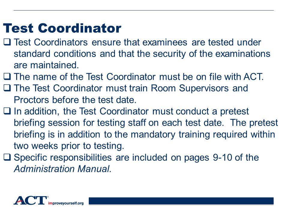 Test Coordinator