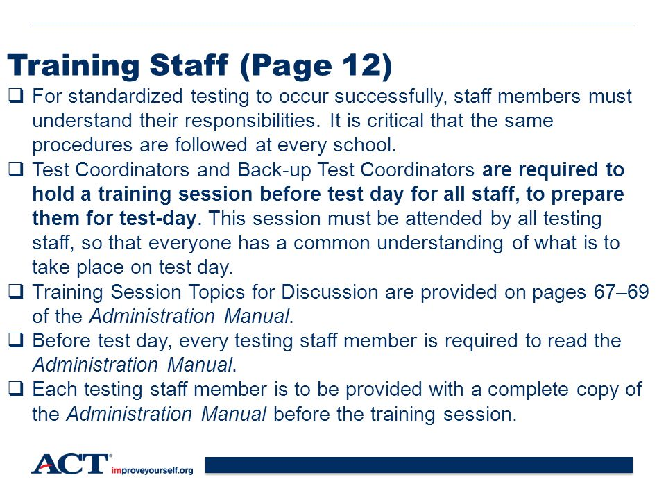 Training Staff (Page 12)
