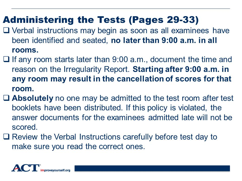 Administering the Tests (Pages 29-33)
