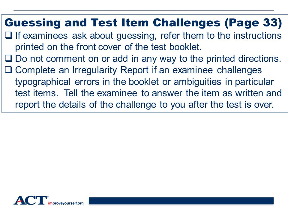 Guessing and Test Item Challenges (Page 33)