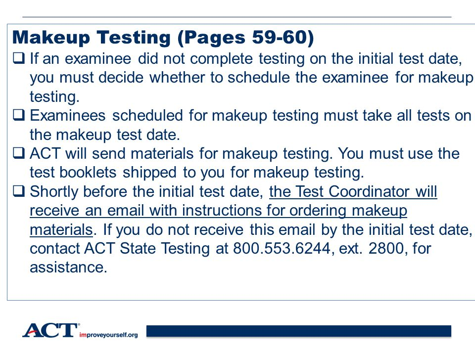 Makeup Testing (Pages 59-60)