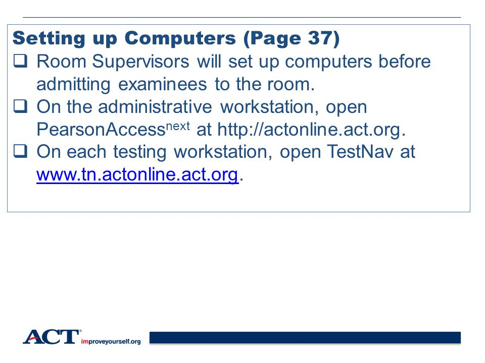 Setting up Computers (Page 37)