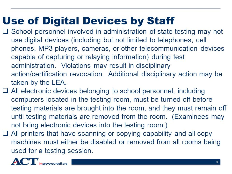 Use of Digital Devices by Staff