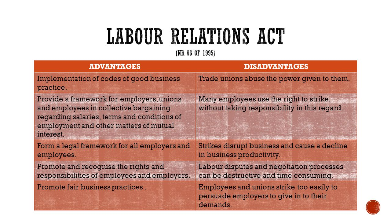 advantages and disadvantages of trade unions Disadvantages of labor unions september (2 ) about me disadvantages of labor unions last time i talked about the advantages of labor unions there are also disadvantages to labor unions, both to the employees and the strikes are not the only financial disadvantage of trade unions.