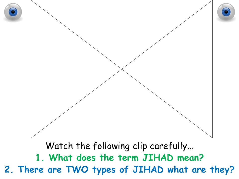 Watch the following clip carefully... What does the term JIHAD mean