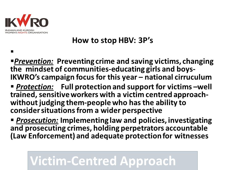 Victim-Centred Approach