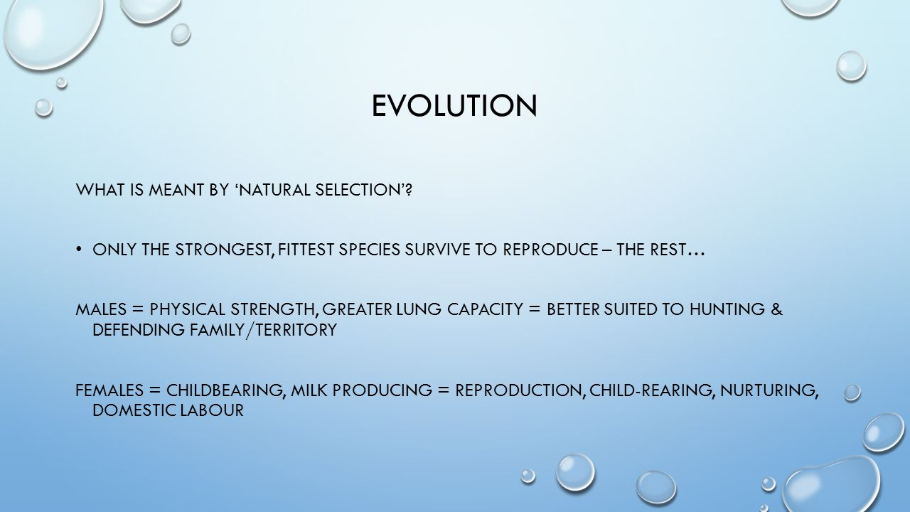evolution What is meant by 'natural selection'