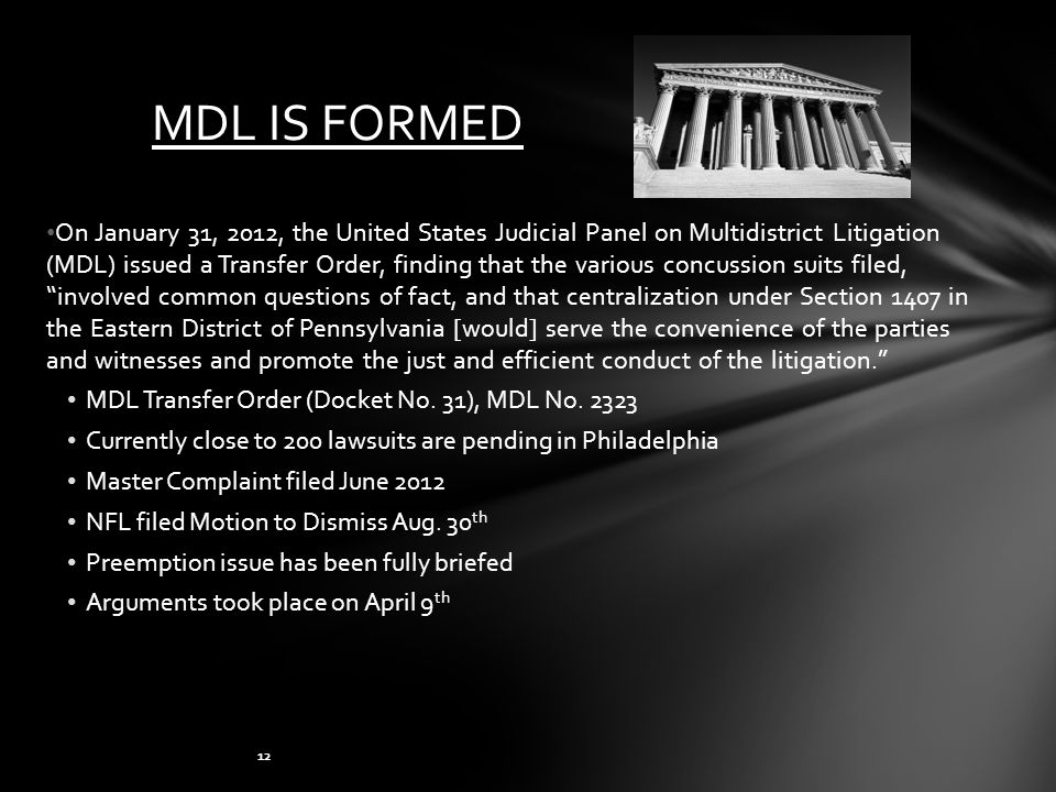 MDL IS FORMED