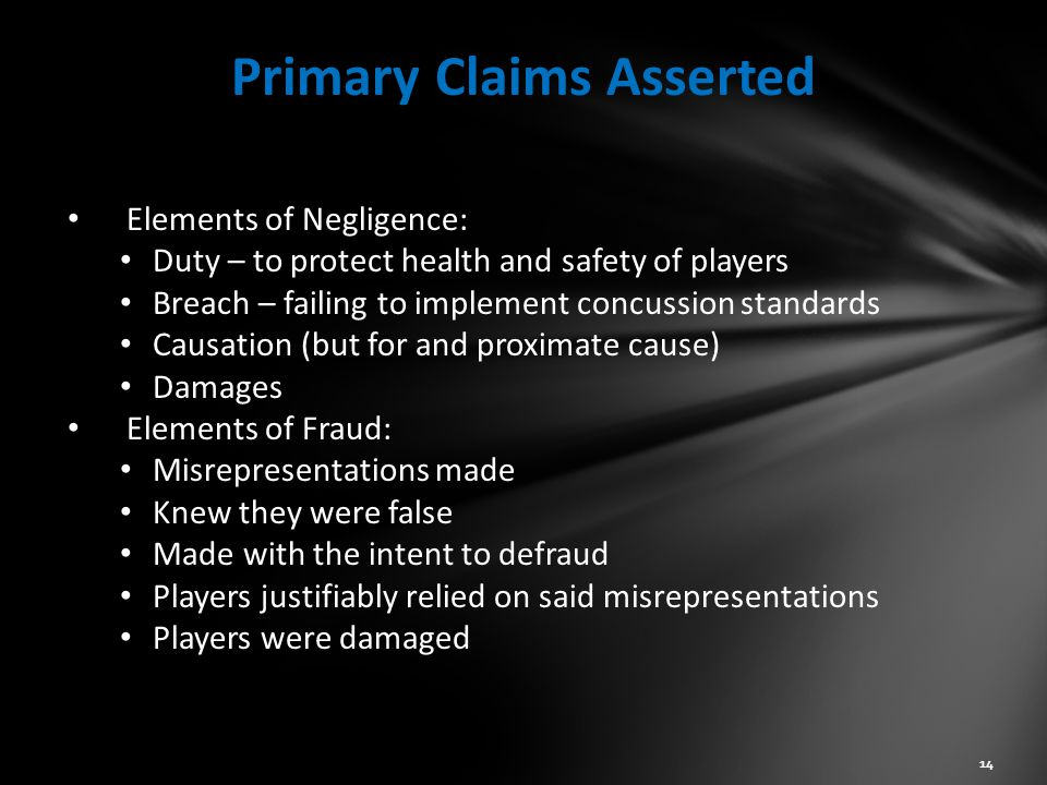 Primary Claims Asserted