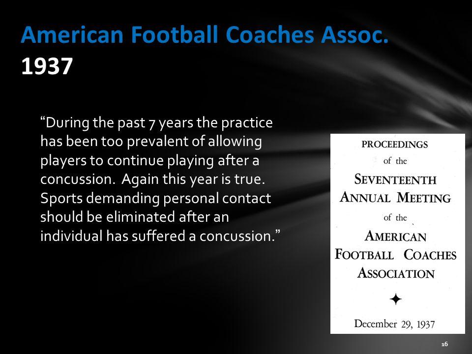 American Football Coaches Assoc. 1937