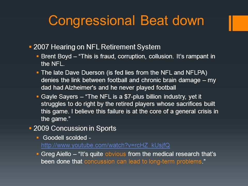 Congressional Beat down