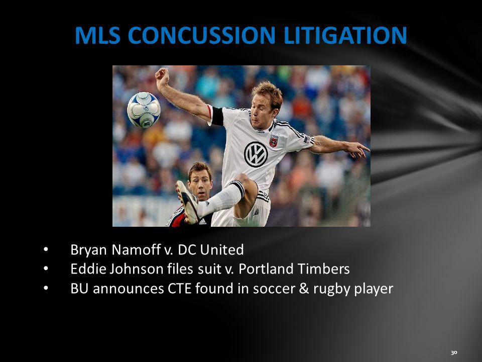 MLS CONCUSSION LITIGATION