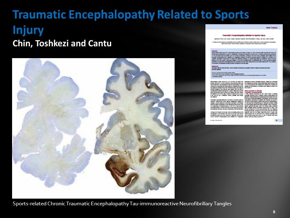 Traumatic Encephalopathy Related to Sports Injury Chin, Toshkezi and Cantu