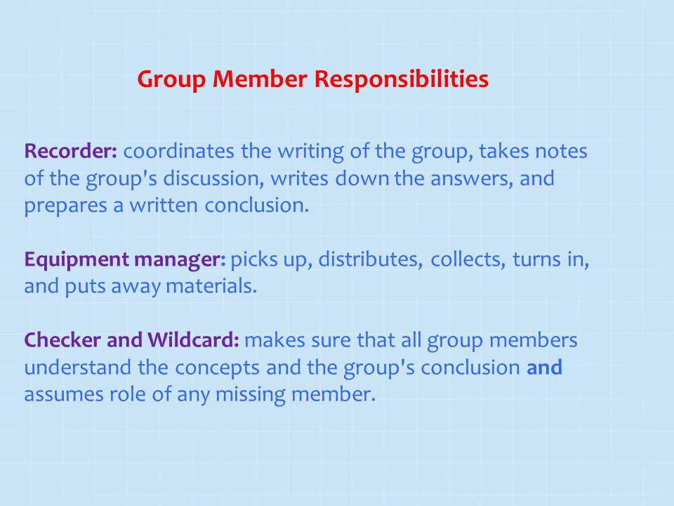 Group Member Responsibilities