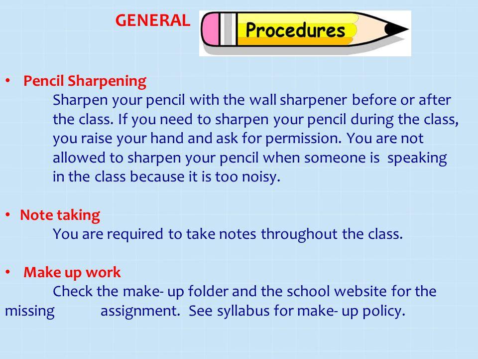 GENERAL Pencil Sharpening
