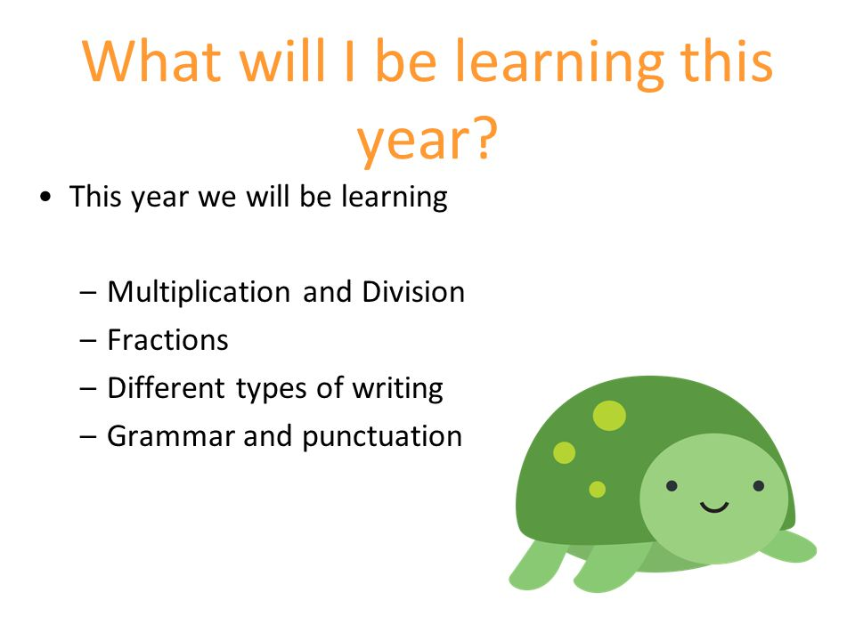 What will I be learning this year