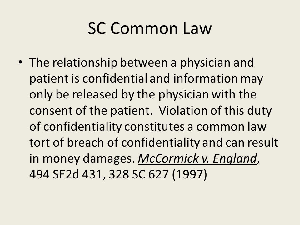 SC Common Law