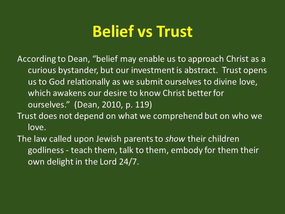 Belief vs Trust