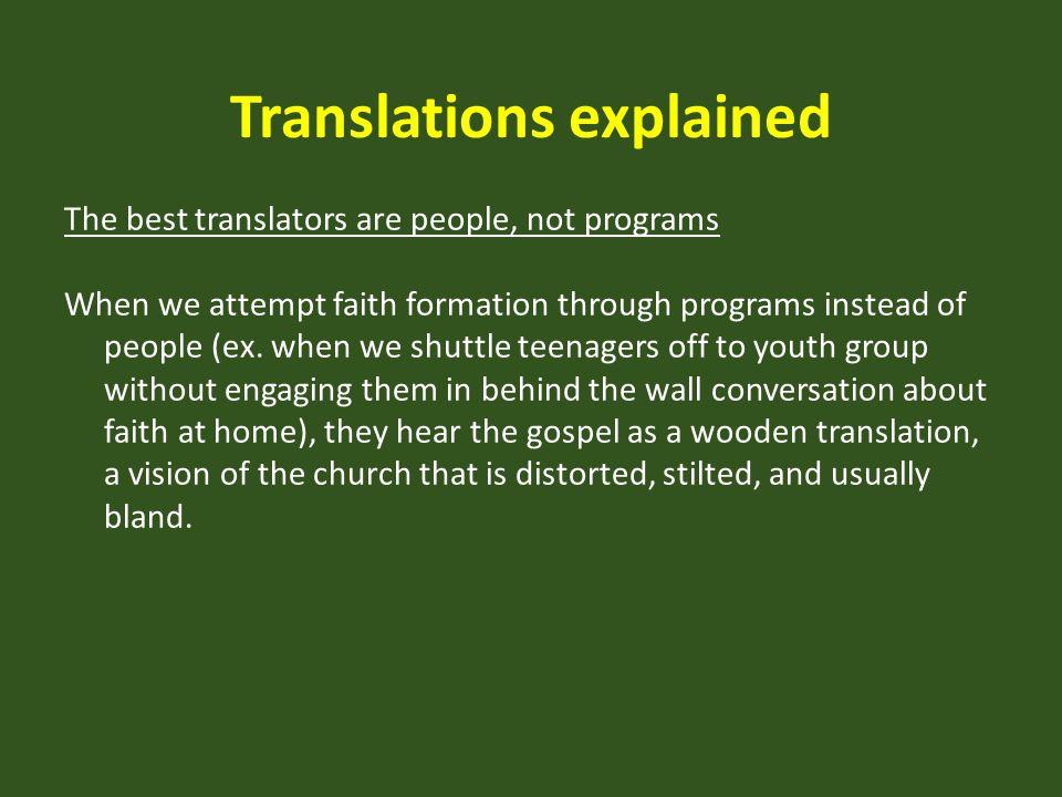 Translations explained