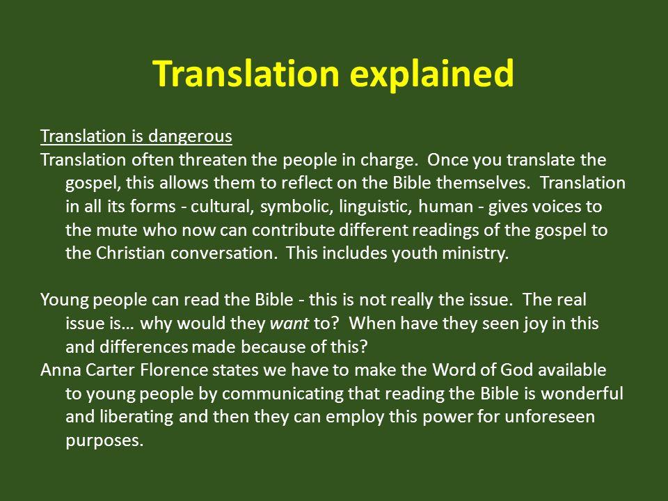 Translation explained
