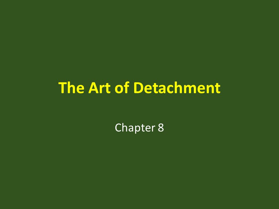 The Art of Detachment Chapter 8