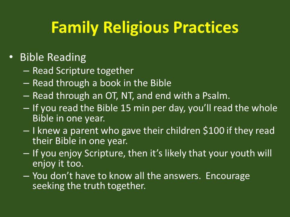 Family Religious Practices