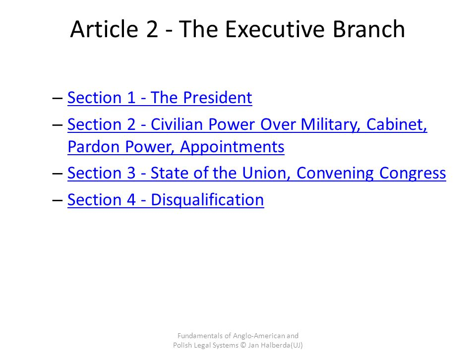 Article 2 - The Executive Branch